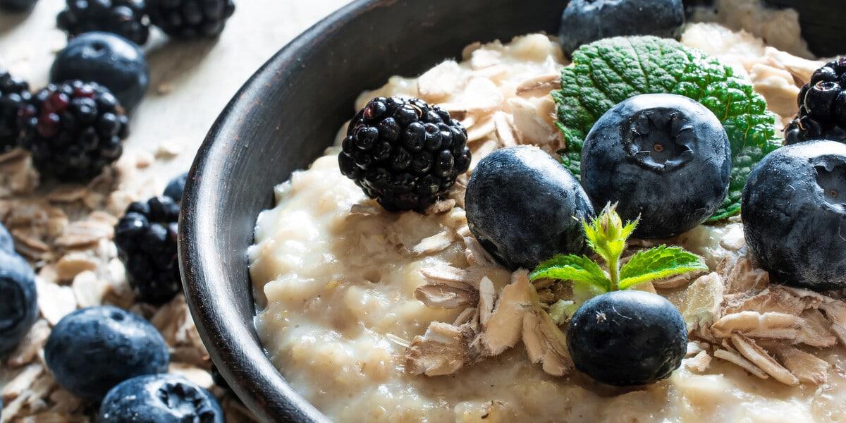 Porridge mit Blaubeere