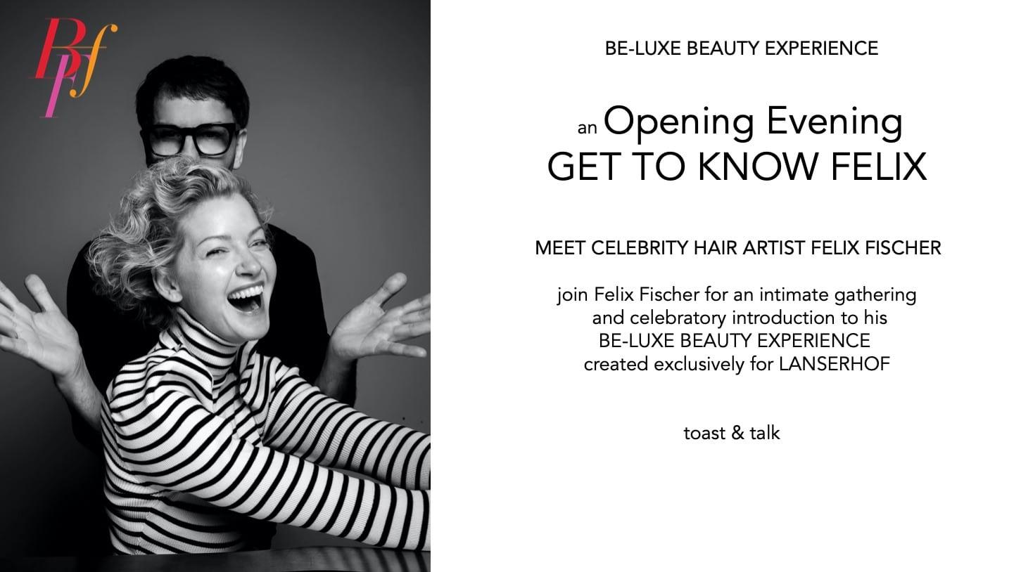 Informationsflyer zu Veranstaltung mit Hair Artist Felix Fischer