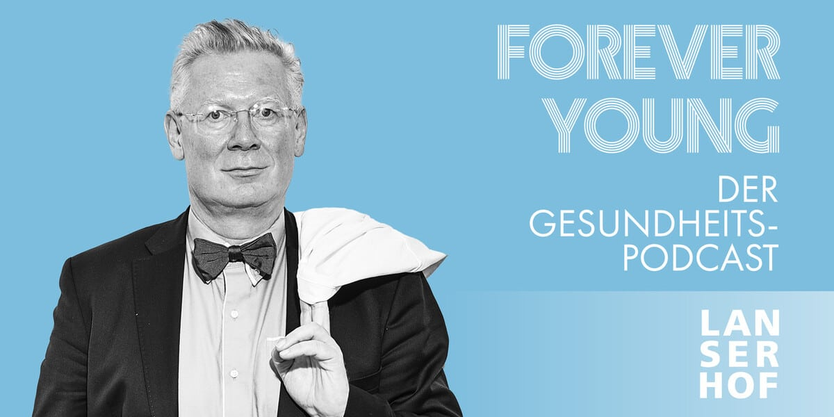 Thumbnail des Forever Young Podcasts mit Prof. Dr. med. Augustinus Bader