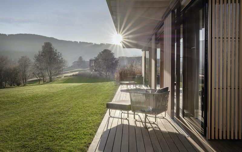 Pavillon Suite Terrasse des Lanserhof Resorts Tegernsee