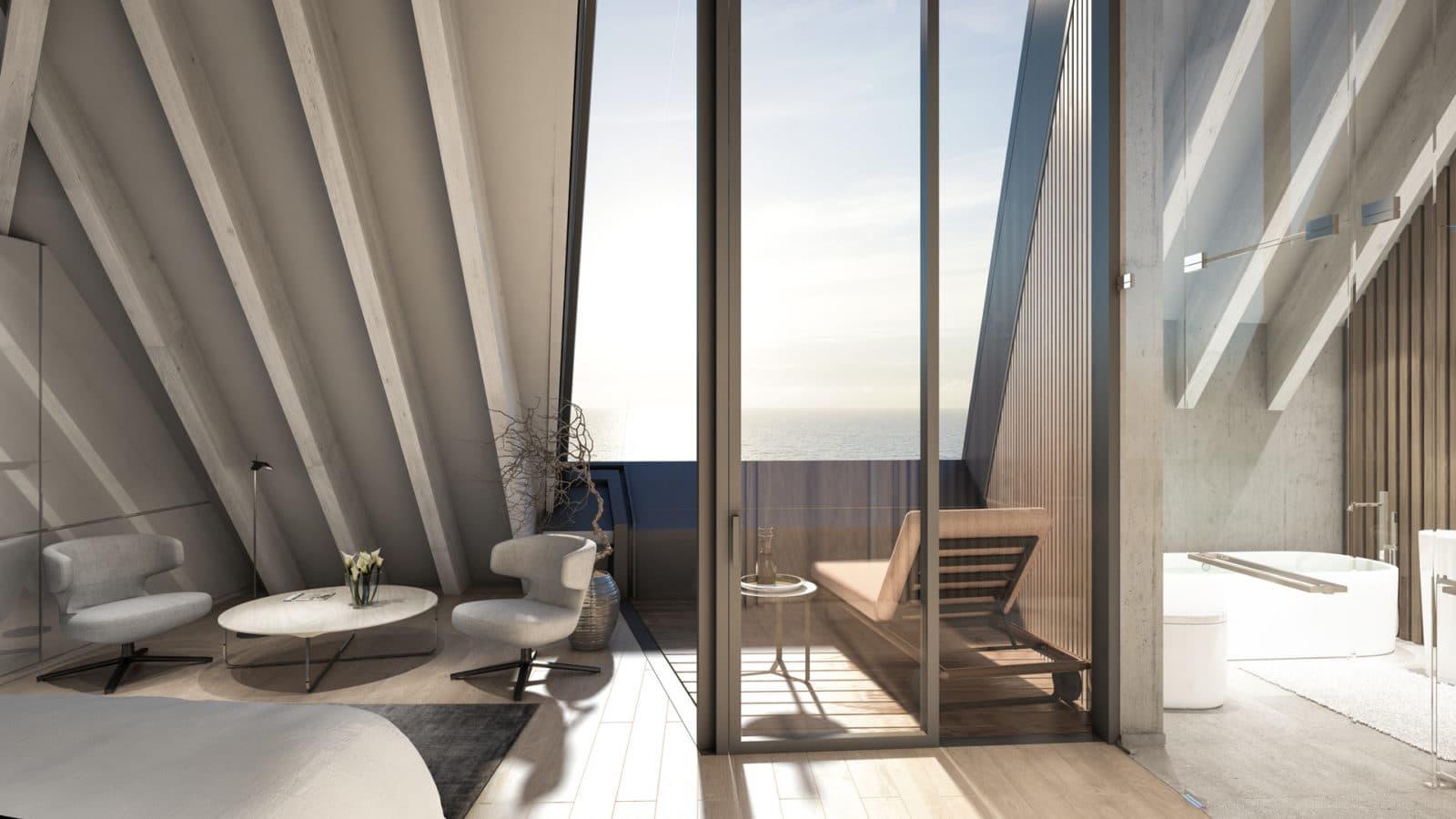 Bild eines Balkons mit Blick