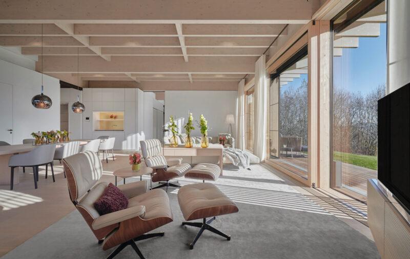 Pavillon Suite Wohnzimmer im Lanserhof Resort Tegernsee